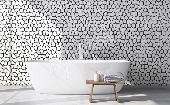 Fotomural en blanco y negro con modelos abstractos