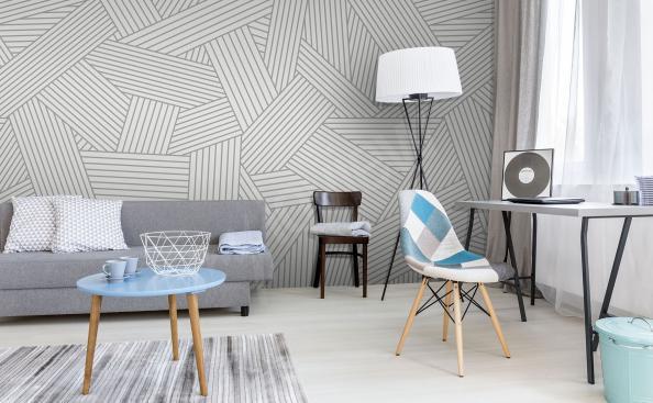 Fotomural en estilo escandinavo gris