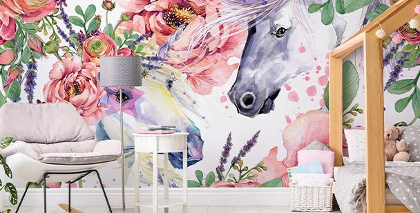 Fotomural en estilo floral