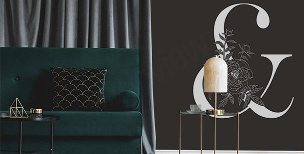 Fotomural en estilo minimalista