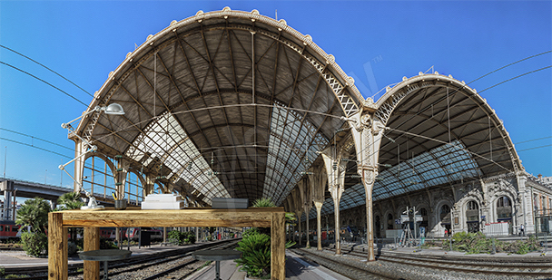 Fotomural estación de Niza