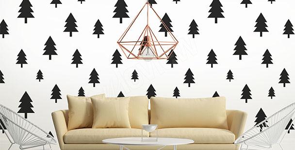Fotomural estilo escandinavo árboles