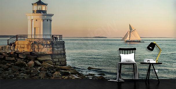 Fotomural faro y barco