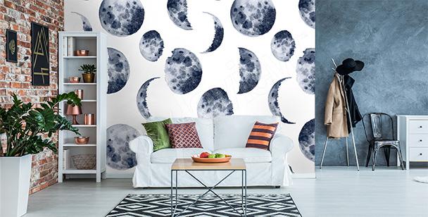 Fotomural fases de la luna