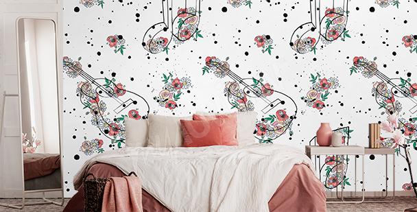 Fotomural floral para dormitorio