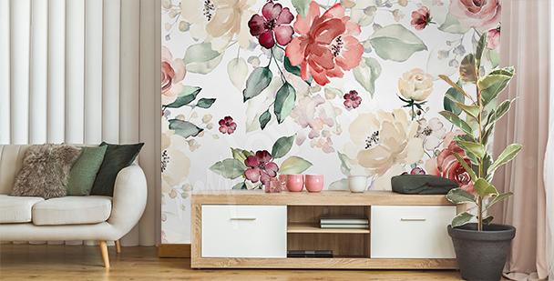 Fotomural floral para sala