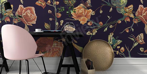 Fotomural flores modelo vintage