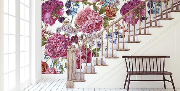 Fotomural flores para el vestíbulo