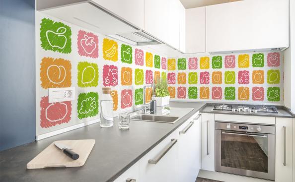 Fotomural frutas coloridas para la cocina