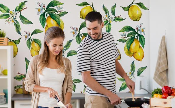 Fotomural Frutas con motivo de limón