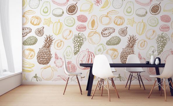 Fotomural frutas motivo para el comedor