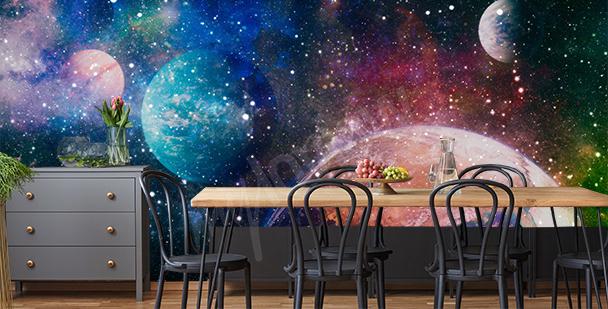 Fotomural galáctico para comedor