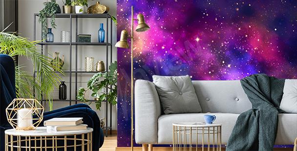 Fotomural galáctico para sala