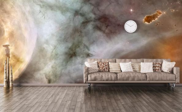 Fotomural galaxia para sala de estar