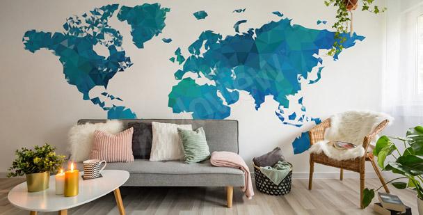 Fotomural geométrico continentes