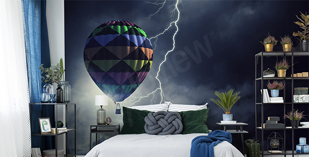 Fotomural globo en tormenta