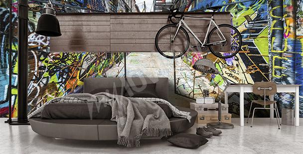 Fotomural graffiti 3D