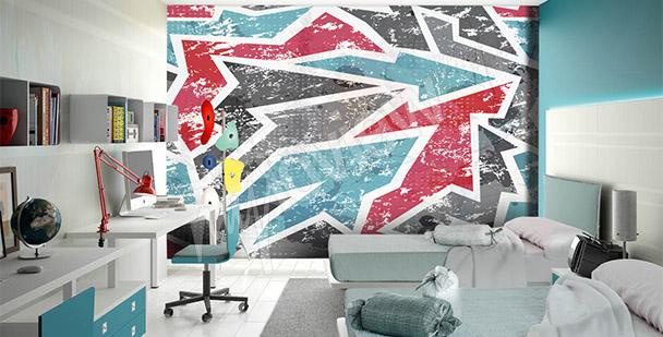 Fotomural graffiti abstracción