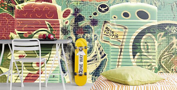 Fotomural graffiti colores