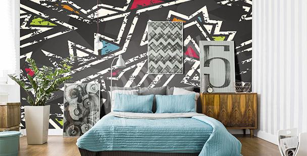 Fotomural graffiti para el dormitorio