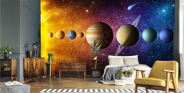 Fotomural gráfico planetas