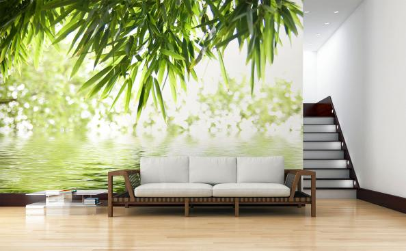 Fotomural hojas de bambú