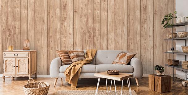 Fotomural imitación madera para salón
