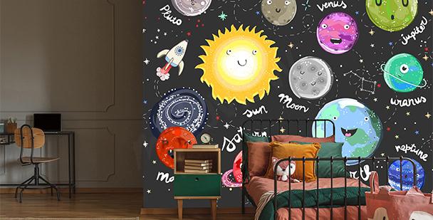 Fotomural infantil planetas