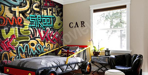 Fotomural jóvenes graffiti