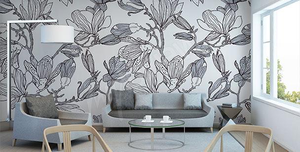 Fotomural magnolia boceto