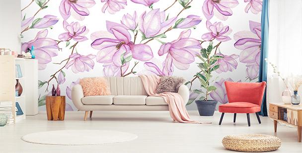 Fotomural magnolias rosadas