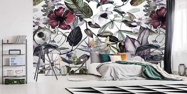 Fotomural magnolias y plantas silvestres