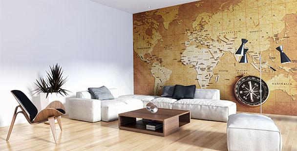 Fotomural mapa antiguo para la salón