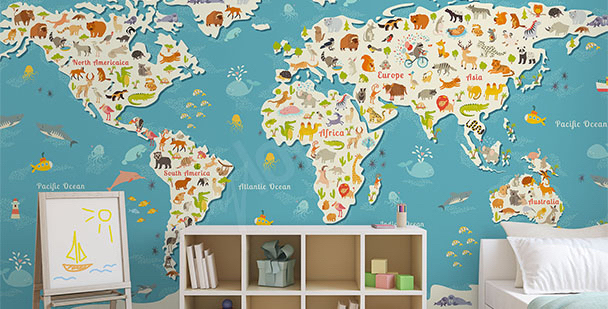 Fotomural mapa colorido