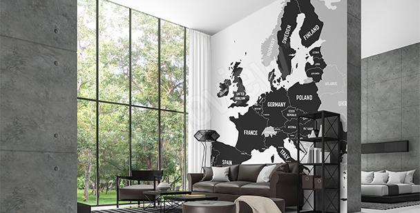 Fotomural mapa con países de la UE