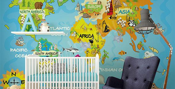 Fotomural mapa infantil
