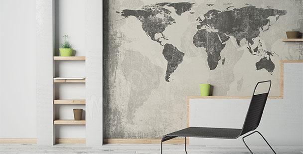 Fotomural mapa minimalista