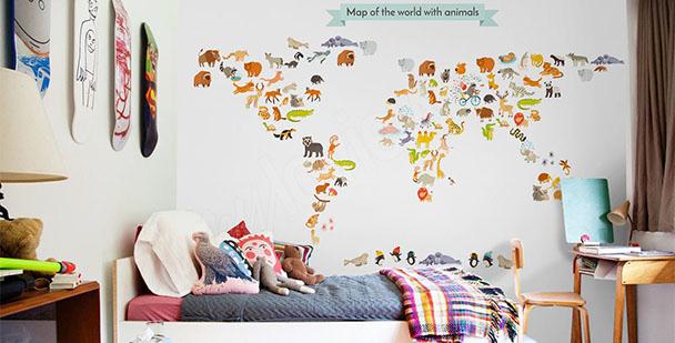 Fotomural mapa para niños