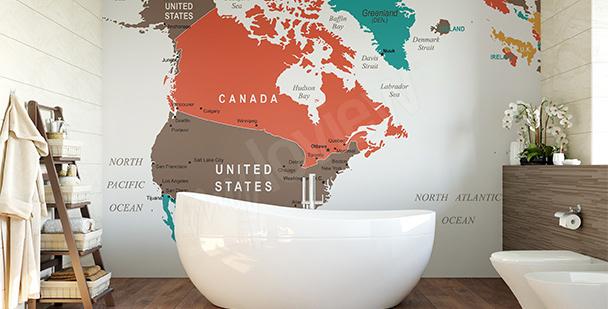 Fotomural mapa político de América