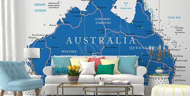 Fotomural mapa político de Australia
