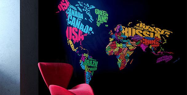 Fotomural mapa y continentes