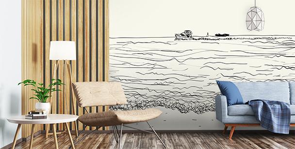 Fotomural mar para el salón