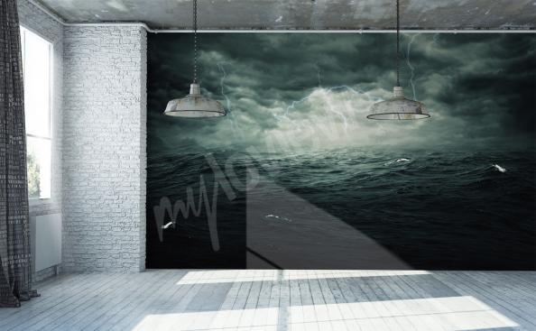 Fotomural mar tormenta