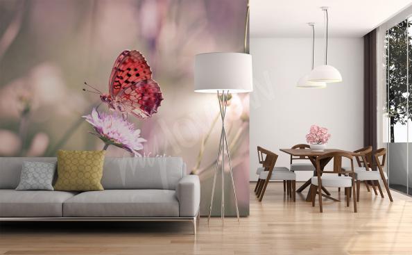 Fotomural mariposa en una flor
