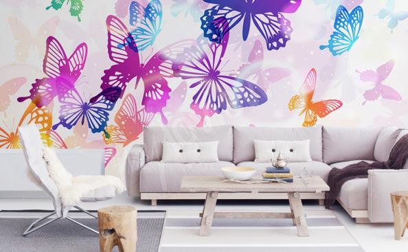 Fotomural mariposas de colores