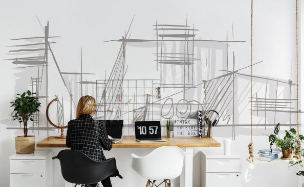 Fotomural minimalista arquitectura
