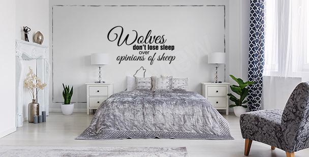 Fotomural minimalista para dormitorio