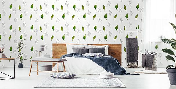 Fotomural motivo con hojas