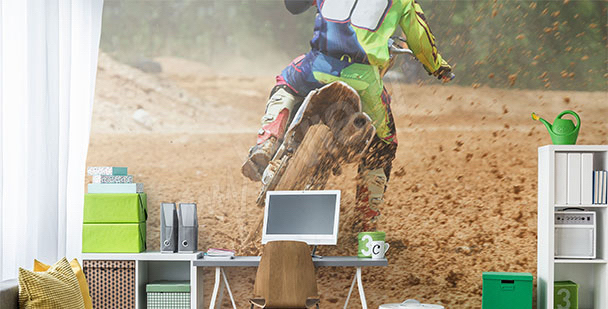 Fotomural motocicleta deporte