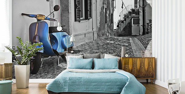 Fotomural motocicleta el dormitorio